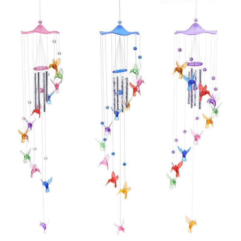 Творческие повезло напевая птица Ветер колокола курантов висит подарков Домашний декор фото