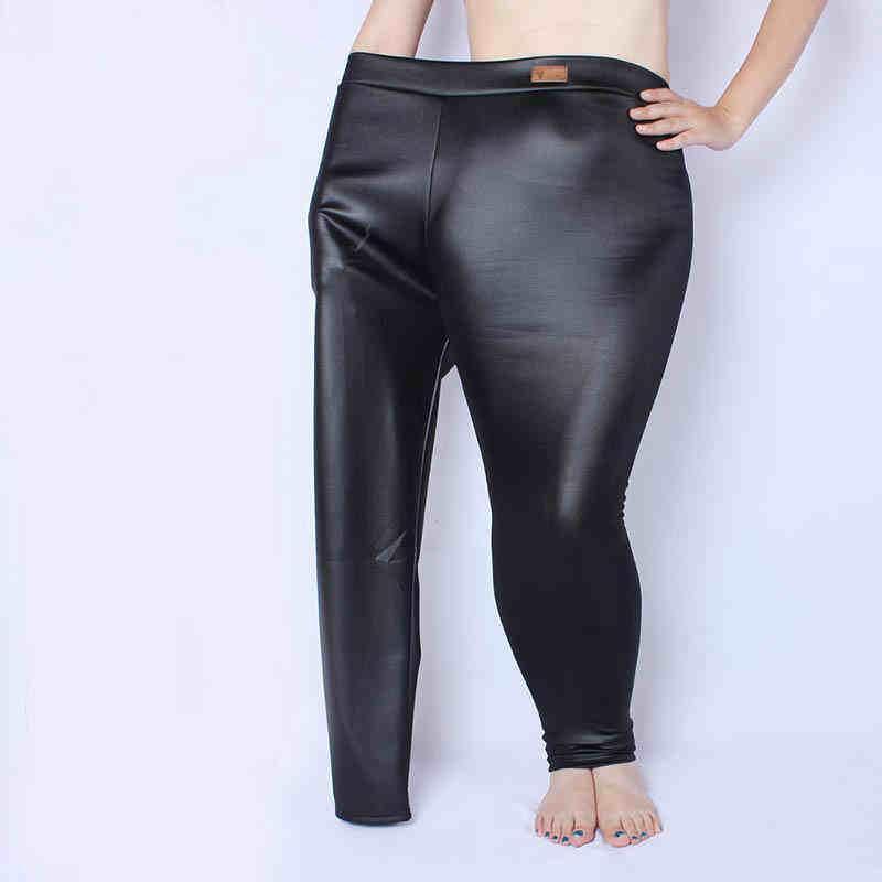Legging  Imitation Leather Matt Pants Women Thin Section Elastic Slim Long Pants