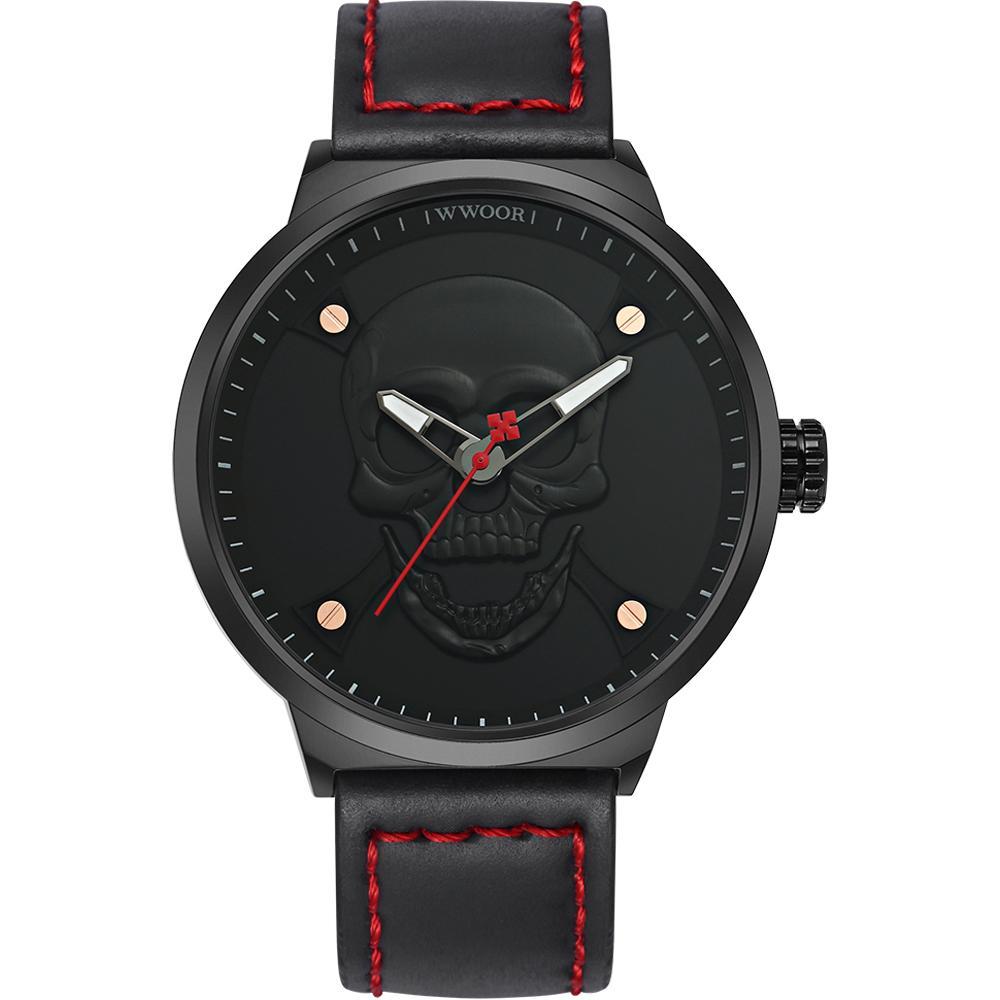 Reloj reloj calavera estilo WWOOR moda reloj marca negocio Deluxe ... 221eab9b5b70