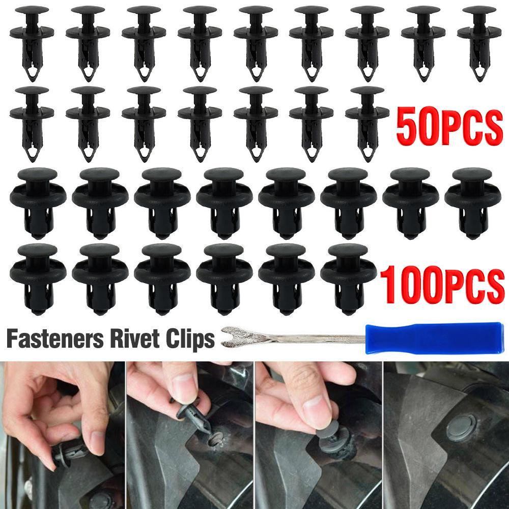 50x 8 mm Voiture Plastique Trim PUSH FIT Rivet Pin CLIPS INTERIOR FASTENER Mitsubishi