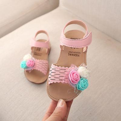 Toddler Summer Children Kid Baby Girls Lovely Cute Flower Princess Sandals Shoes