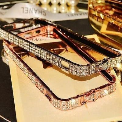 "For Apple iPhone 6 4.7"" Fashion Hot New Crystal Metal Bling Diamond Bumper Frame Case"