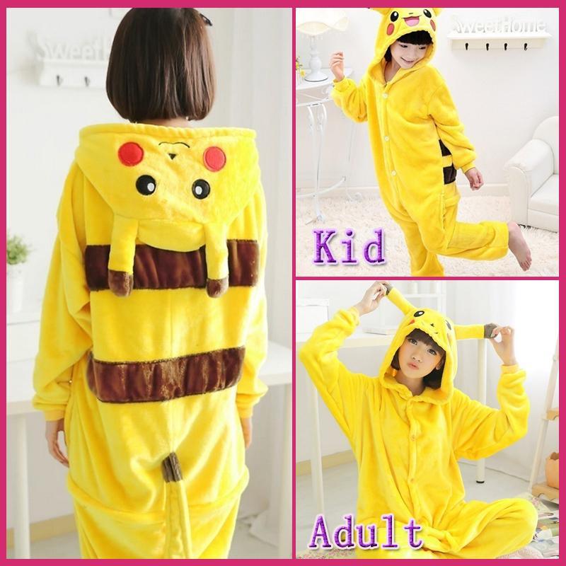 Baby Bathrobe Dressing Gown Cosplay Pikachu Pokemon Night-robe Child Nightwear