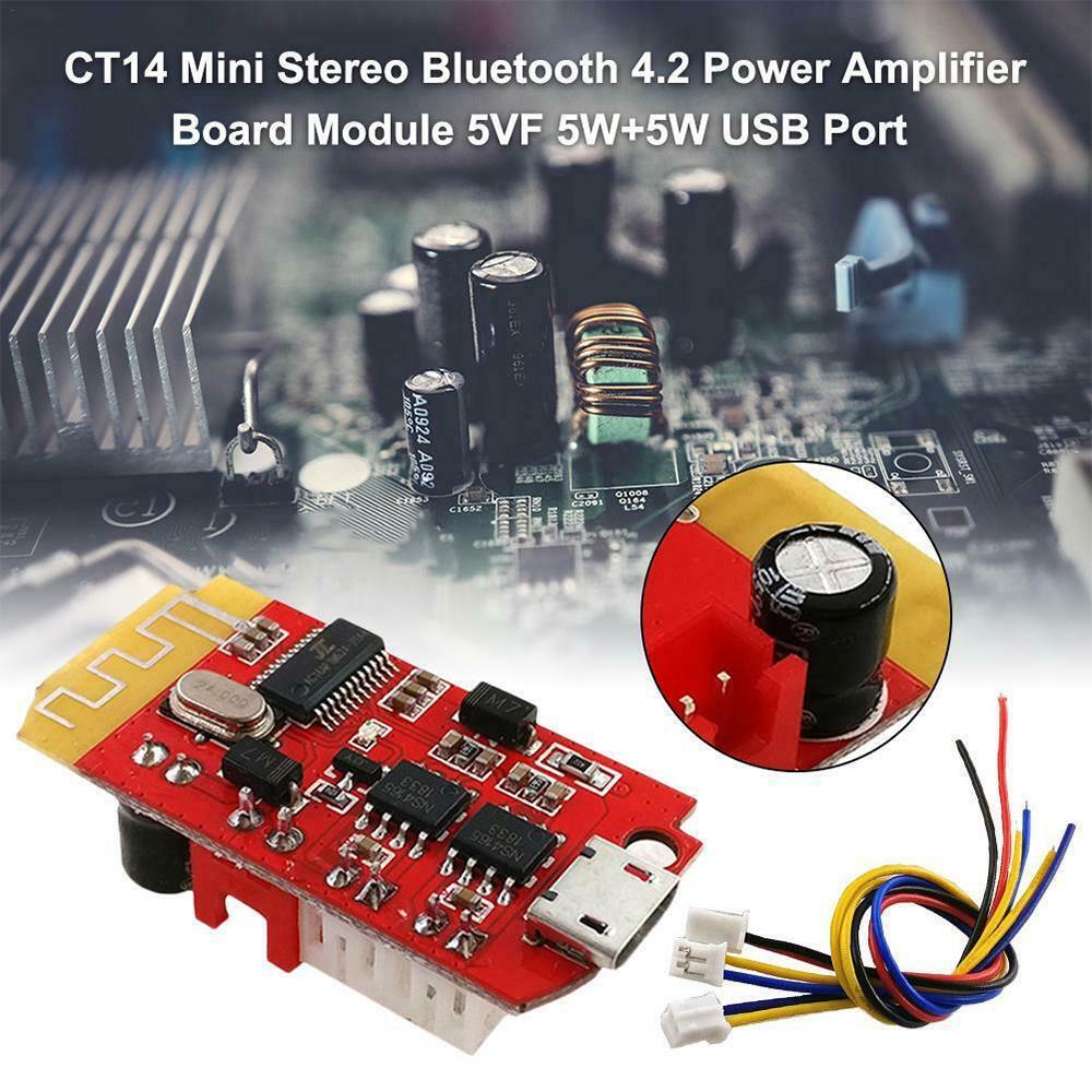 Cobeky 2Pcs Power Amplifier Board CT14 Micro 4.2 Stereo Receiver Board Module 5W+5W for DIY Sound Box Speaker