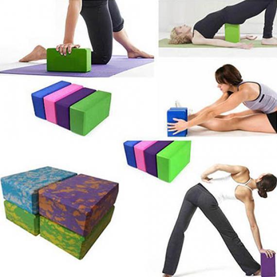 Fitness Yoga Pilates Foam Fit Stretch Aid Block Yoga Exercise Brick Yoga Block