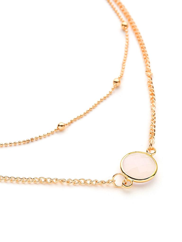 407247fe61 SHEIN Glass Ball Design Layered Necklace-buy at a low prices on Joom ...