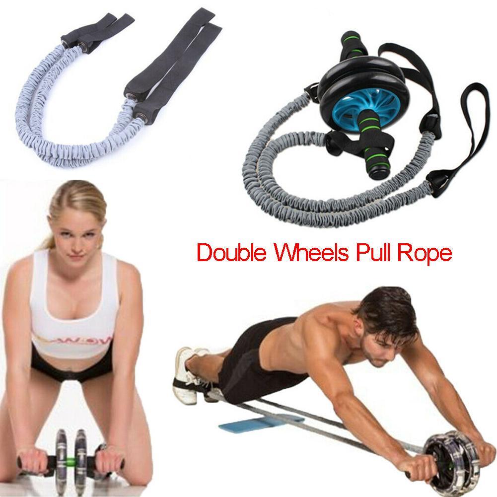 Ab Roller Wheel Pull Rope Waist Abdominal Slimming Fitness Strength Traninning