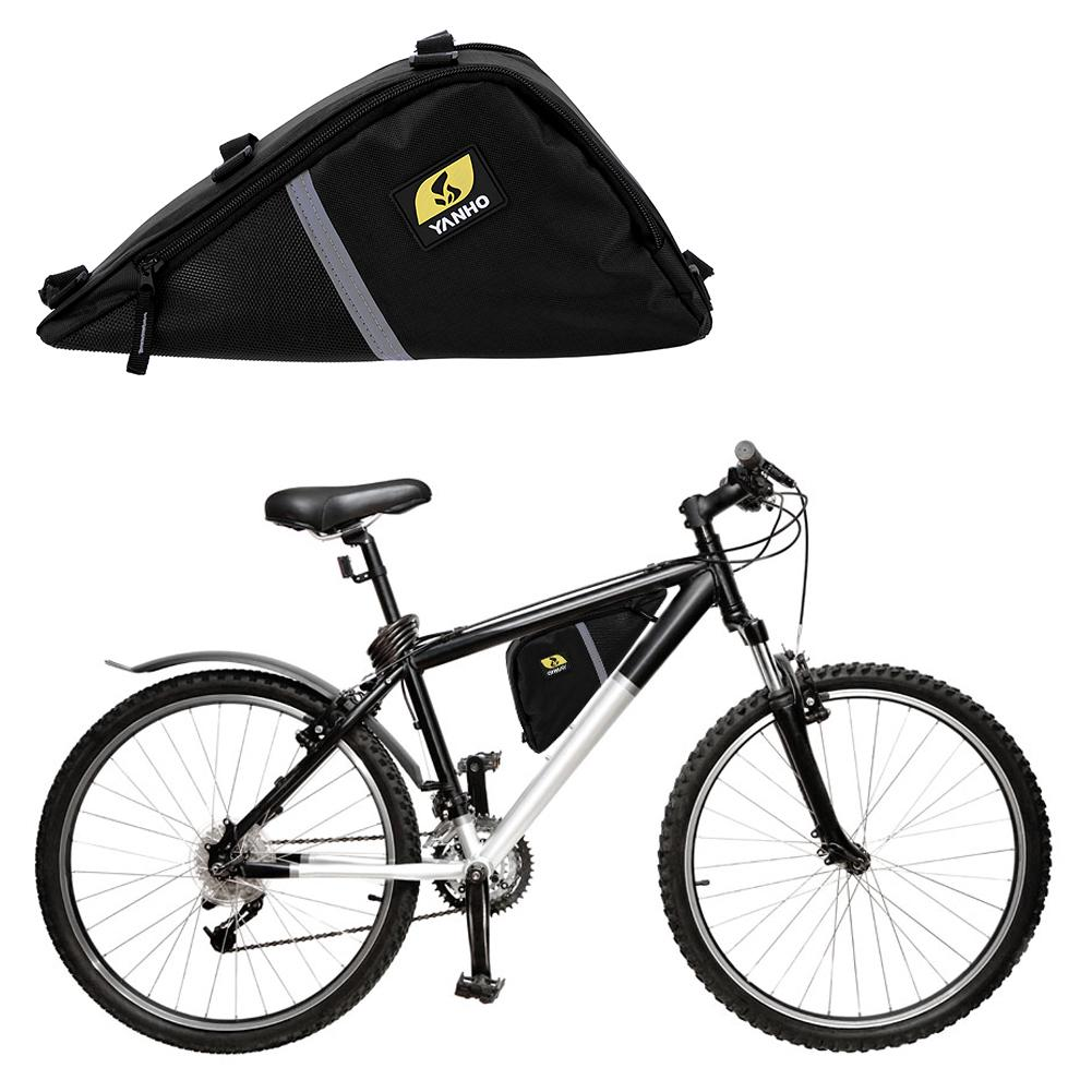 92e189ee1a8 Bicicleta marco triángulo bolsa almacenamiento bolsa ciclismo MTB ...
