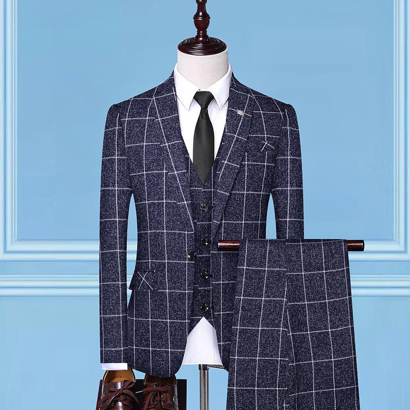 QSYJ Mens Premium Wool Blend Business Blazer Suit Jacket
