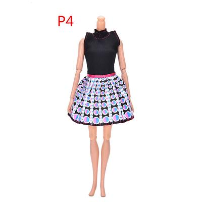 Handmade SHORT Cotton Red with White Dots  Print Barbie Dress