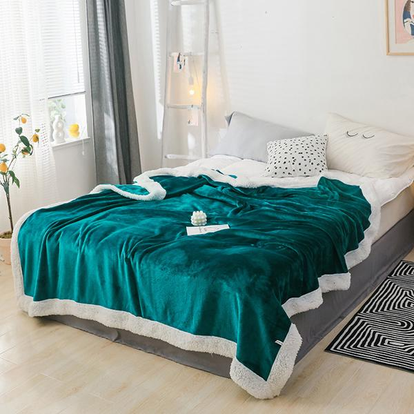 Details about  /Double Thickening Blankets Lamb Cashmere Sofa Winter Warm Throw Air-Condition