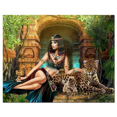 B//W Cross Stitch Chart BUY 1 GET 1 HALF PRICE 2 Cleopatra and Leopards