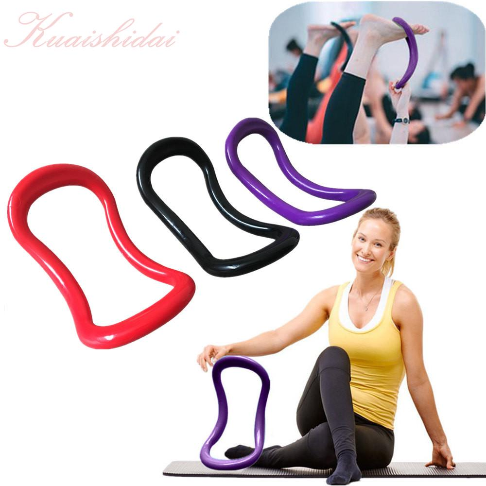 2pcs Yoga Equipment Yoga Ring with Massage Beads Pilates Ring Fitness Circle Training Resistance Support Tool Calf Massage Home Training Pink Blue