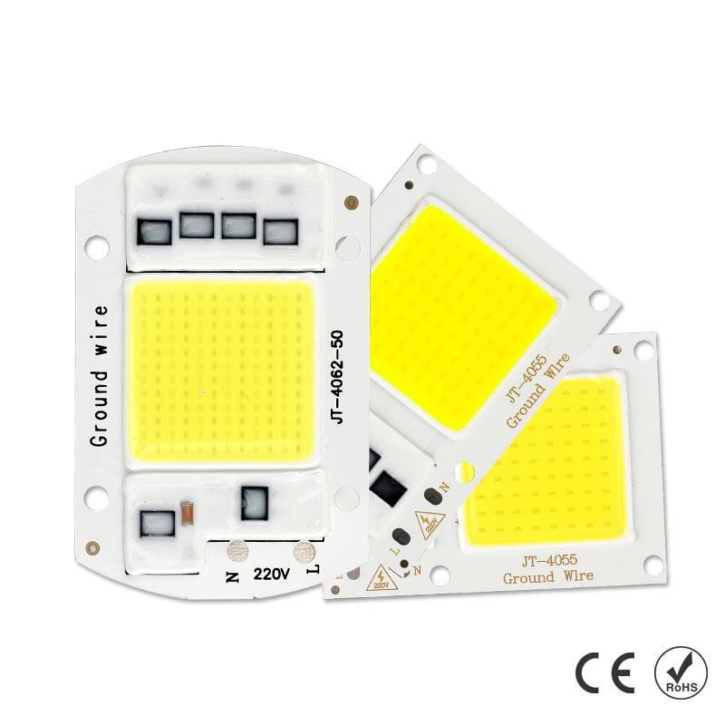 COB LED Chip Smart IC Driver Floodlight 10W 20W 30W 50W 220V DIY Spotlight Lamp