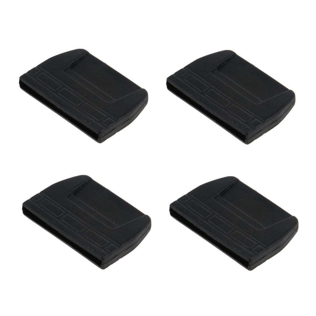 4pcs Webbing Belt Flat Tail Buckles End Clips Tips Black 20mm//25mm//30mm//38mm