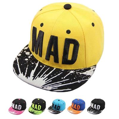 Trend Hat Snapback Cap Kid Boys Girls Letters Baseball Caps Flat Hip Hop Cap
