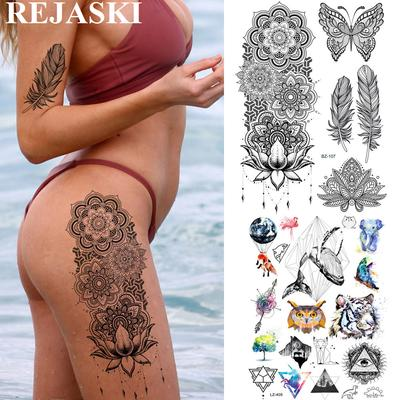 Color Sketch Tattoo Stickers Peony Rose Plum 3d Flower Body Art Tattoos Stickers Buy At A Low Prices On Joom E Commerce Platform