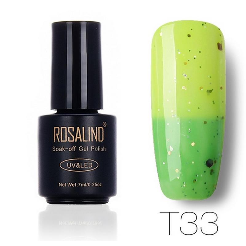 Esmalte de Gel de 7ML de ROSALIND temperatura cambiar Color uñas Gel ...