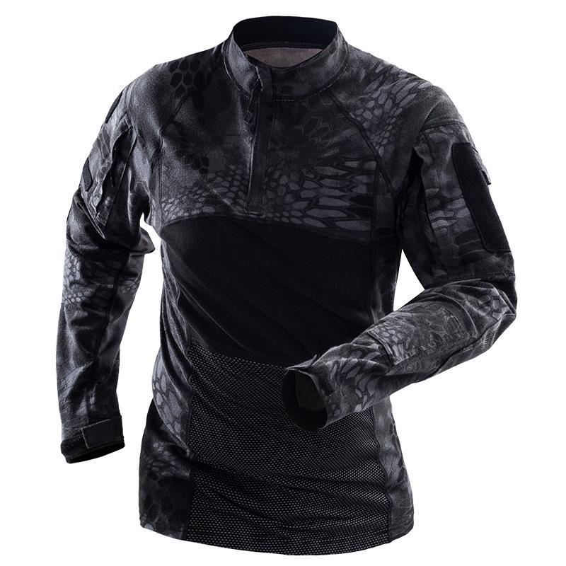 Mens Camouflage Camo Long Sleeve T Shirt Military Army