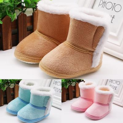 Winter Baby Girl Boy Cotton Boots Casual Shoes First Walkers Newborn Cute Non-slip Soft Sole Shoe
