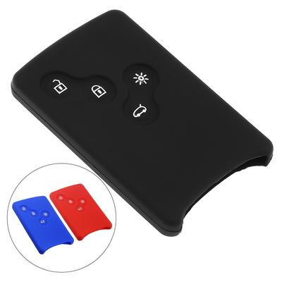 4 Buttons Silicone Flip Folding Car key Cover Protector Holder for Renault Clio Logan Megane