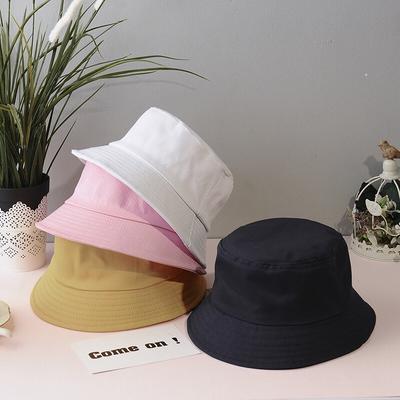 FAITOLAGI Summer Foldable Bucket Hat Outdoor Sunscreen Solid Color Unisex Fisherman Fishing Hat Cap