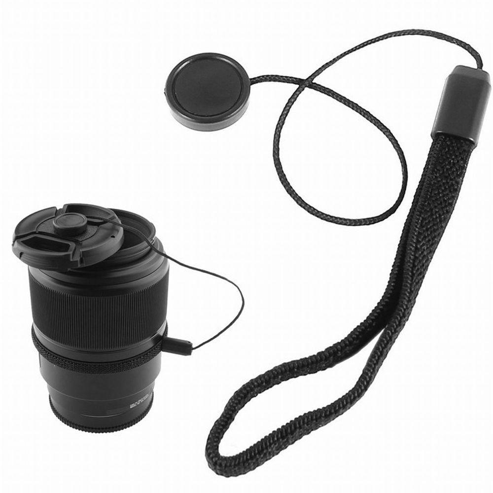 10Pcs 58mm Center-pinch Lens Front Cap with Cord for Cameras Pography Accessories DSLR Cameras Lens Caps with Anti-lost Strap Value-5-Star