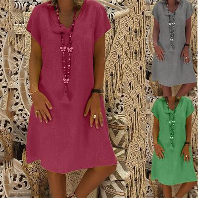 Suda Women Summer Style Feminino Vestido T-shirt Cotton Casual Plus Size Ladies Dress