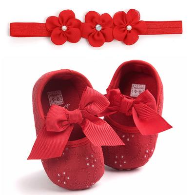 Baby Girls Lovely Bowknot Infant Princess Soft Sole