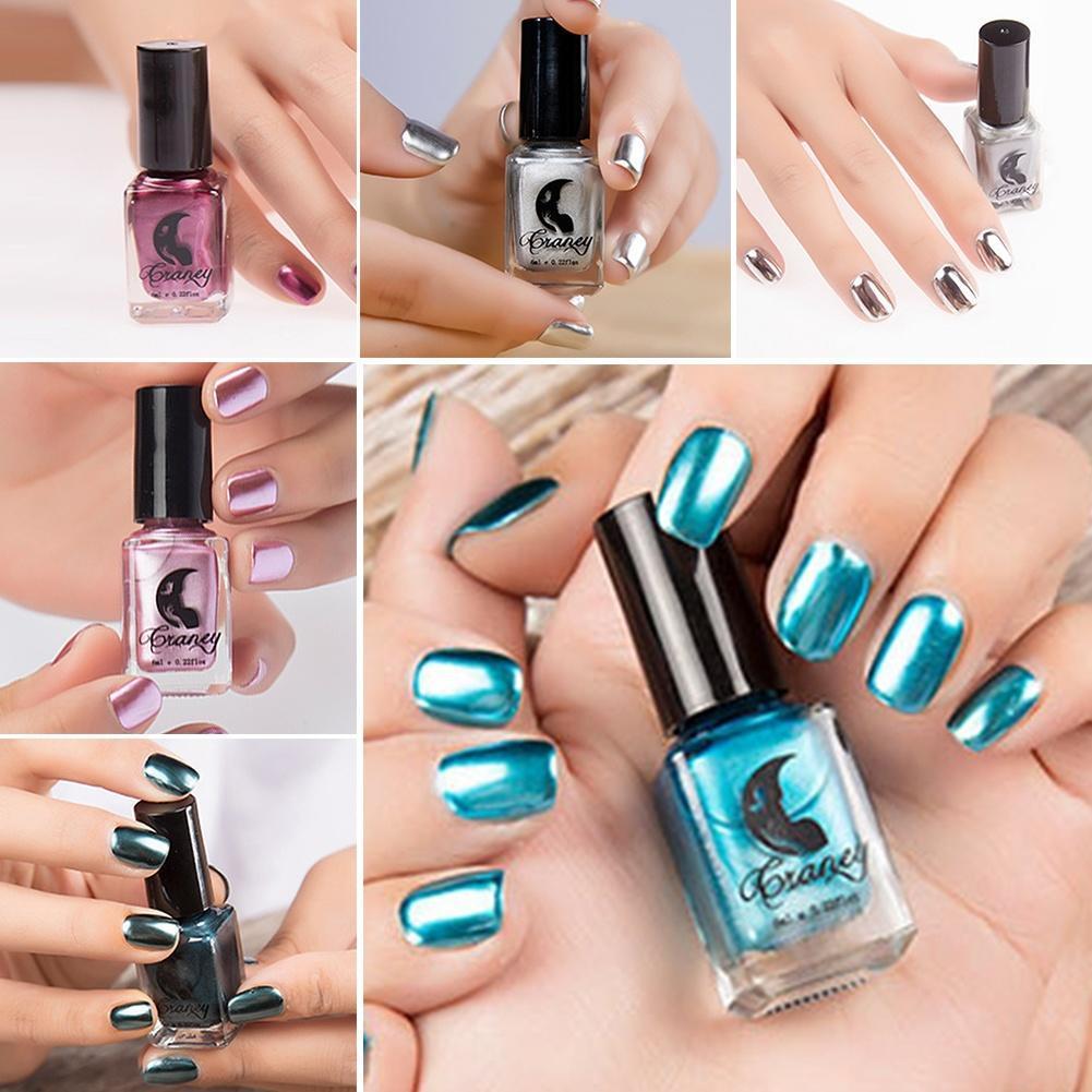 Esmalte de uñas metálico espejo mágico efecto cromo brillo laca ...