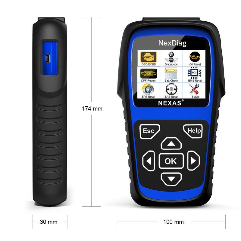 NEXAS 2018 ND601 For BMW / MINI OBD Code Reader Multi-Sysstem Diagnostic  Scanner