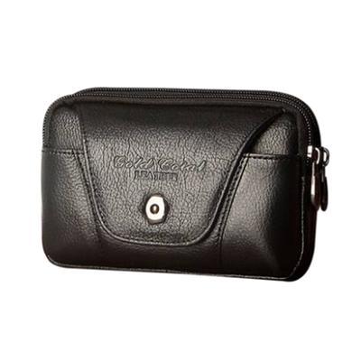 Men/'s Faux Leather Belt Loop Multi-Pockets Waist Bag Phone Cash Pouch Newly