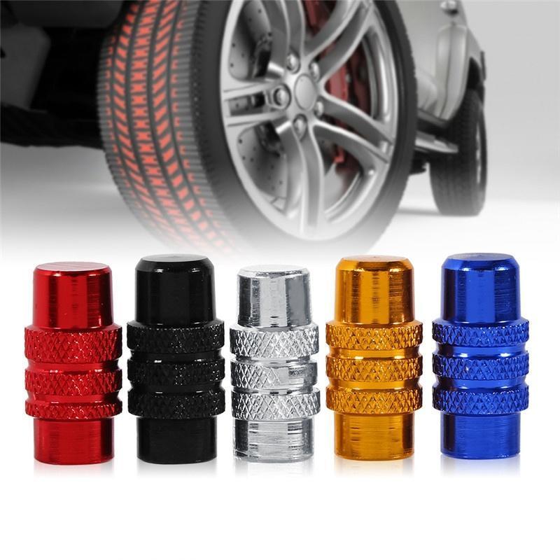 Practical Universal Aluminum Cover  Car Wheel Tire Rim Air Port Valve Stem Cap