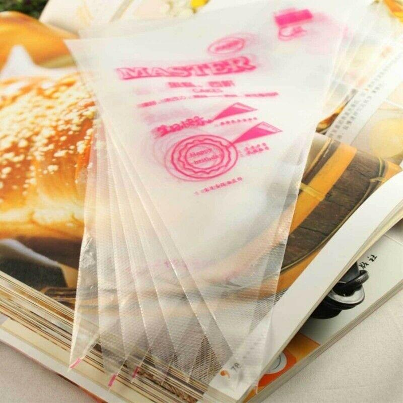 100Pcs Disposable Icing Piping Bag Fondant Cream Squeeze Pastry Bags Cake