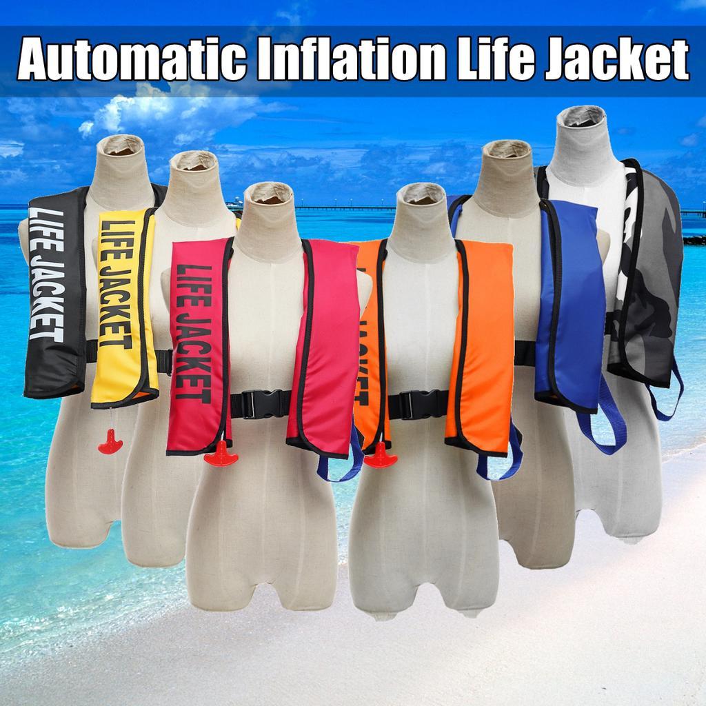Adult Universal Automatic Inflatable Life Jacket 150N Buoyancy PFD Sea Sailing