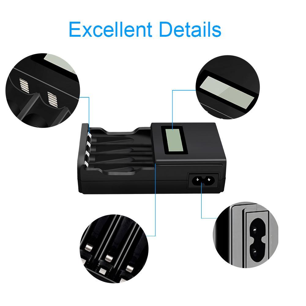 PALO akıllı şarj cihazı hızlı LCD pil şarj cihazı Için AA AAA NIMH NICD  Reachar, pil kullanımı uygun fiyatlı satın alın - fiyat, ücretsiz teslimat,  fotoğraflarla gerçek yorumlar - Joom