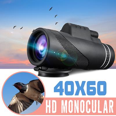 LEJIA monocular Telescope 6 Piece Set 40X60 for Zoom Lens Adults Phone high Power starscope Definition monocular Smartphone Telescope monoscope Binoculars with Smartphone Holder