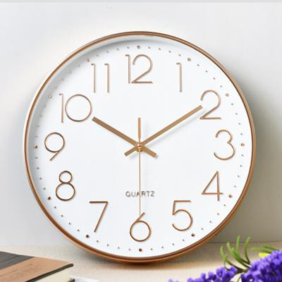 Simple Quartz Wall Clock Cafe Office Home Digital Silent Timepiece Decoration