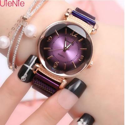 Women Watch Fashion Wild New Watch Milan Magnet Buckle Luxury Fashion Ladies Geometric Roman Numeral Quartz Movement Watch