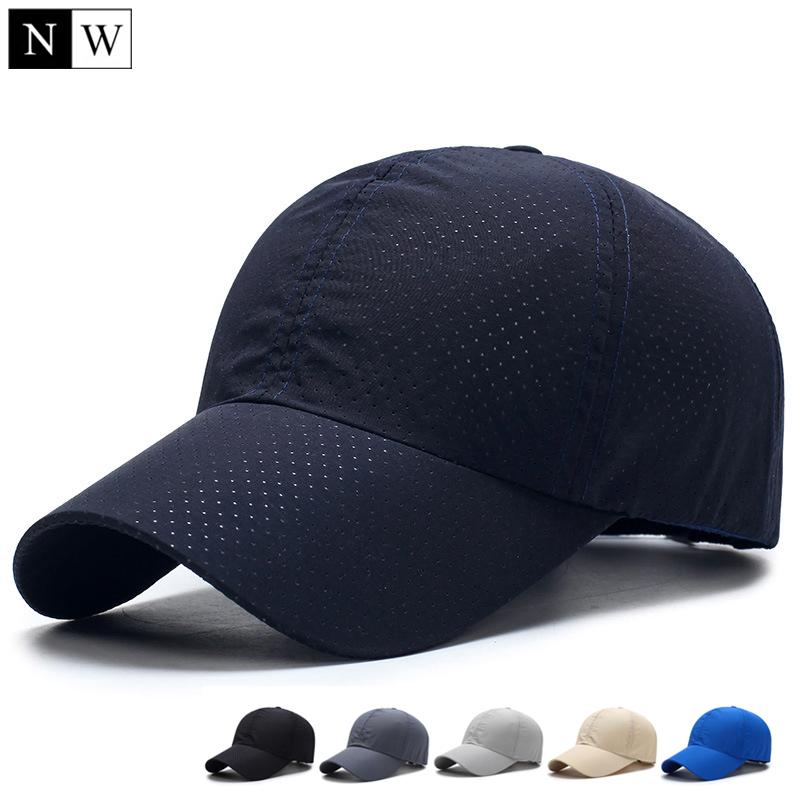 795ad7bf53f976 Solid Summer Baseball Cap Men Snapback Women Quick Dry Mesh Cap Breathable  Sun Hat-buy at a low prices on Joom e-commerce platform