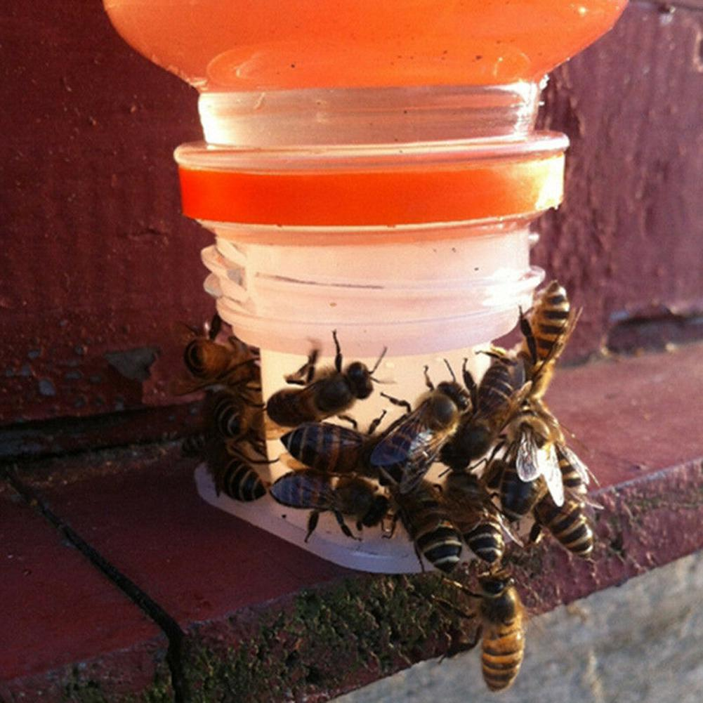 4L Black Plastic Inside Bee Hive Feeder Beekeeping Tool for Honey Bee