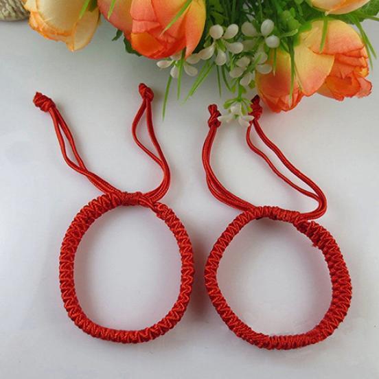 Мужская и женская рука-вязаный узел браслет с красной веревкой Хорошее преимущество фото