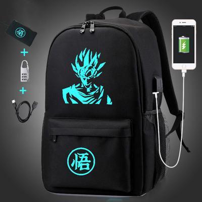 4pcs Backpack Child School Bag Teenage Girl Boy Anti-theft Luminous USB Charge
