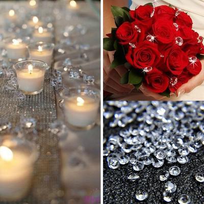 300pcs 20mm Acrylic Diamonds Crystal Confetti Wedding Party Table Decorations