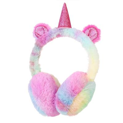 Women Girls Oversized Winter Earmuffs Cartoon Rabbit Ears Faux Fur Ear Warmers for Cold Weather