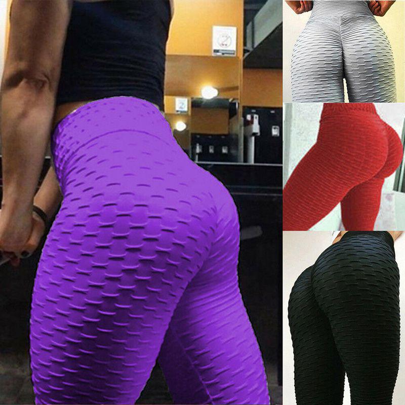 Women High Waist Yoga Pants Ladies Leggings Gym Sport Workout Butt Lift Trousers