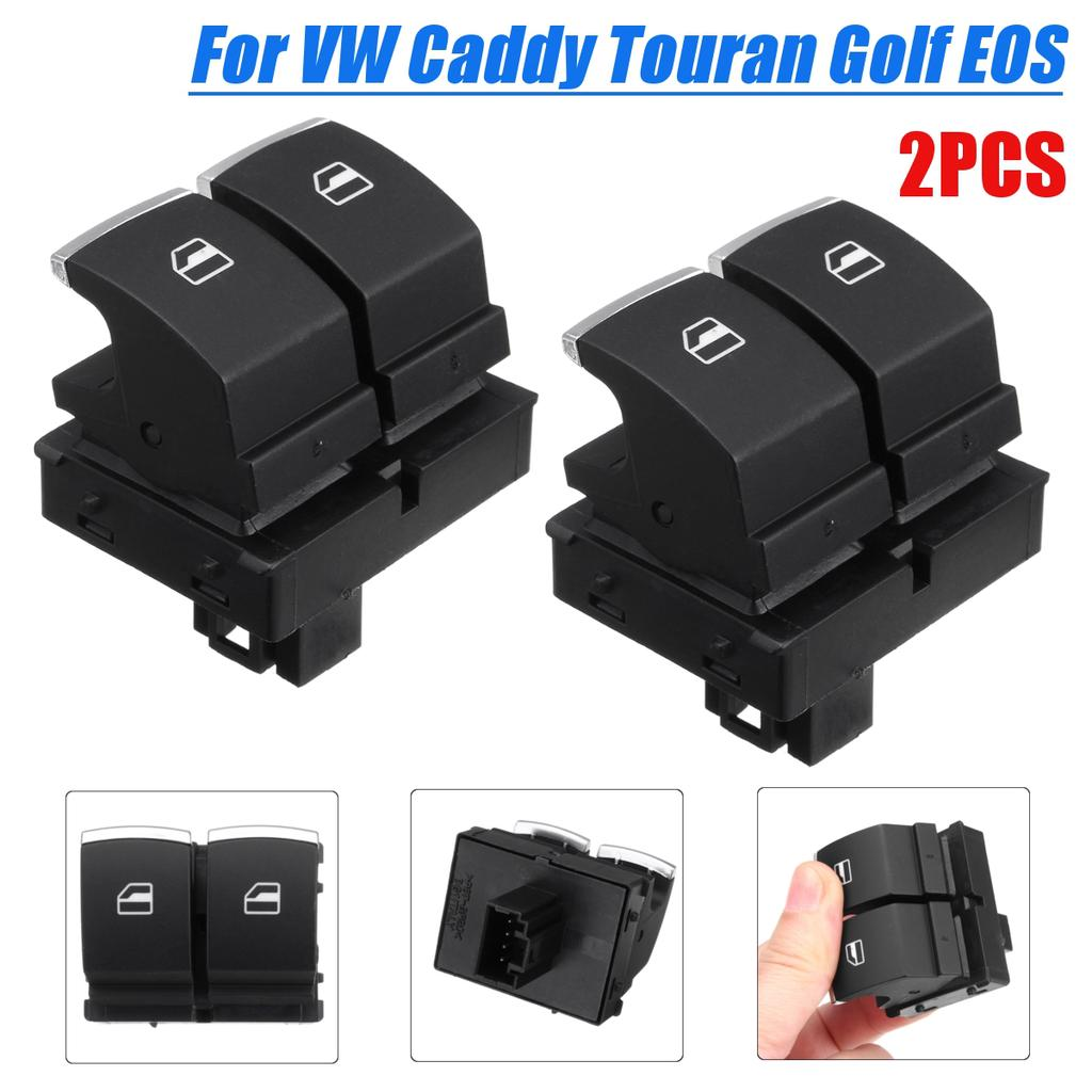 TOURAN EOS 2 DOOR DRIVERS SIDE ELECTRIC WINDOW SWITCH FOR A VW CADDY