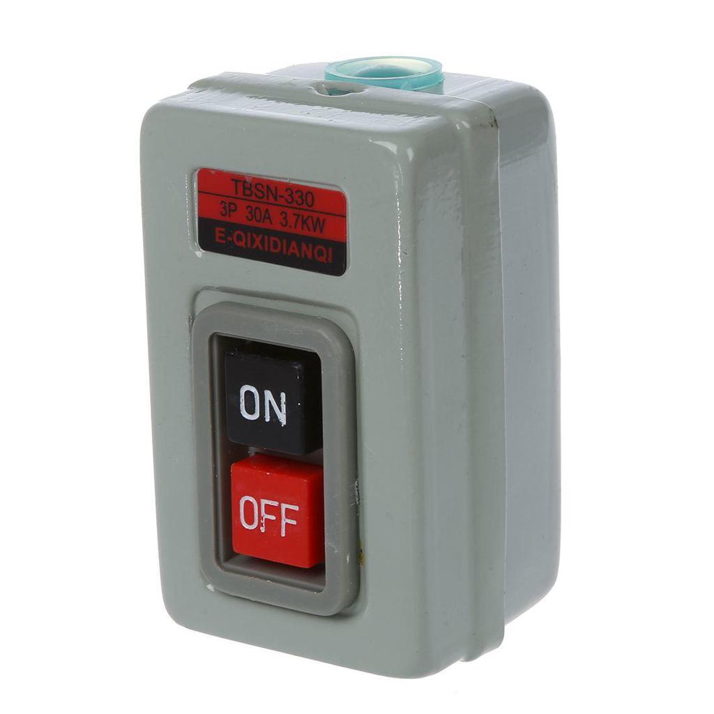 TBSN-330 ON//OFF 3 Phases Self Locking Push Buttton Switch 30A 3.7KW
