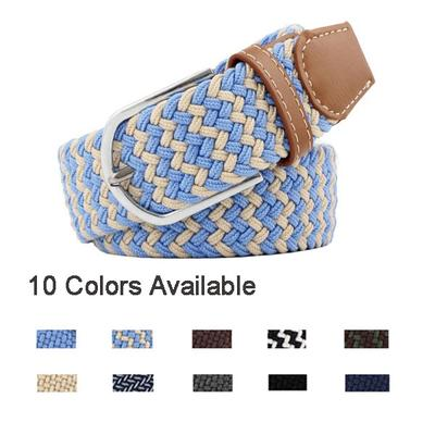 1Pc Extended Elastic Braided Belt Canvas Belts Pin Buckle