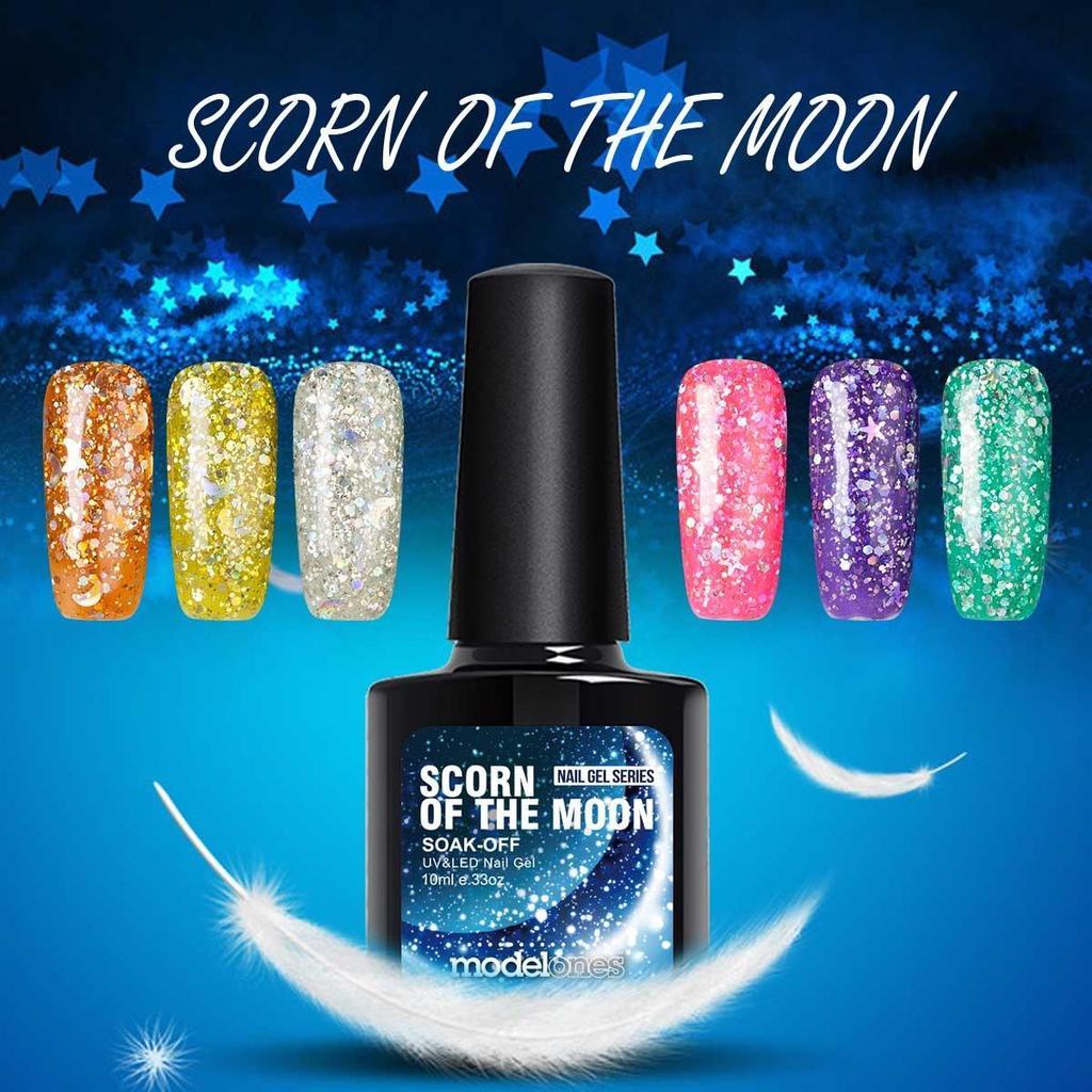 3D Star&Moon 10ML UV Soak Off Diamond Glitter Gel Nail Polish 12 ...